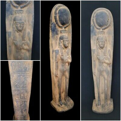 Egyptian Antiques Isis Stone statue Hathor Relief Mummy Hieroglyph Plaque