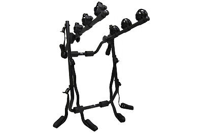 FWE Universal 3 Bicycle 6 Strap Boot Mounted Car Bike Rack Holder Foldable NEW