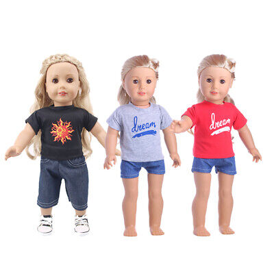 "Hot Handmade Accessories18"" Inch American Girl Doll Clothes Two-piece suit"