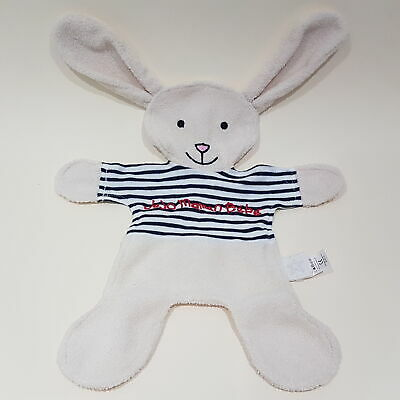 White Bunny Rabbit Jojo Maman Bebe NEW blanket soother blankie