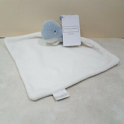 NEW The Little White Company Blanket Soother Blue Whale Blankie Comforter  s