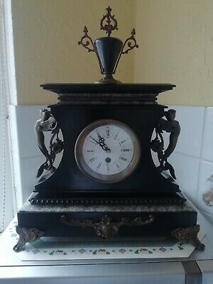 Stunning Antique Slate Clock
