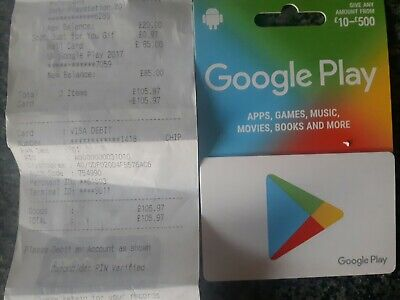 £85 Google PLAY Store GIFT CARD - original unwanted gift, unused with receipt