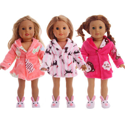 "Hot Handmade Accessories Fits 18"" Inch American Girl Doll Clothes Pajamas robe"