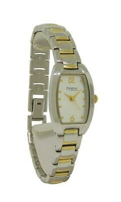 Caravelle by Bulova 45L116 Women's Silver & Gold Tone Analog Tonneau Watch