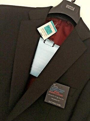 """Mens M&S Size 40"""" Chest Xlong Washable Wool Blend Stretch Dinner Jacket Tuxedo"""