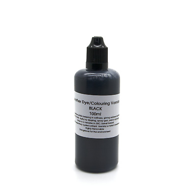 Black Leather Colour Dye Varnish Repair Refreshing Manufacturing Recolouring 100