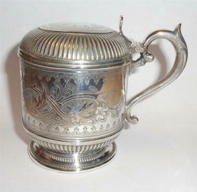VICTORIAN SILVER PLATED MUSTARD POT FREDERICK ELLIS TIMM & Co