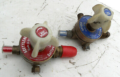 BOC Saffire Series  Pair of Oxygen and Acetylene Regulators + Saphire Nozzle