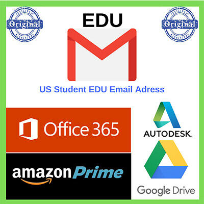 Edu Email 6Months✅ Amazon Prime Unlimited Google Drive Storage US Student Mail ✅