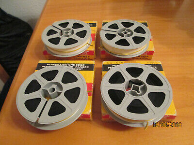 4 bobinas 16mm de 30m filmaciones amater color perfecto