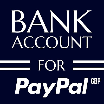 Bank Account And Debit Card For PayPal Account UK GBP