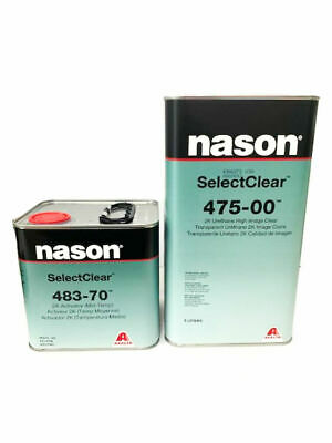 Nason SelectClear 475-00 2K 5L Urethane High Image Clear with 483-70 (Mid Temp)