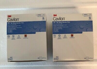 3M Cavilon No Sting Barrier Film New in Box Ref 3342 Qty 2 Box