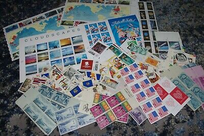 Lot Of US Unused USPS Postage Stamps $50+ Face Value FV With Forever
