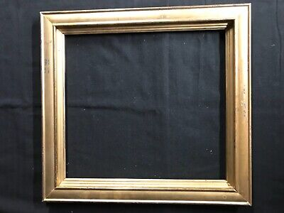 Antique 19th century Wood Lemon Gold Gilt Picture Frame 17x16 AS IS