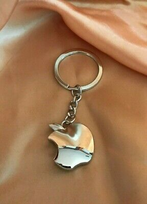 Apple logo Metal Key Chain Apple Keychain Iphone Key Ring NEW