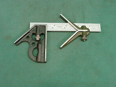 "Lufkin Three Piece Junior Combination Square With 6"" Rule"