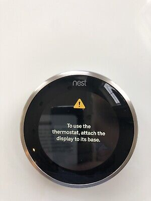 Nest 3rd Generation Programmable Thermostat T3008US -Stainless Steel Plus Sensor