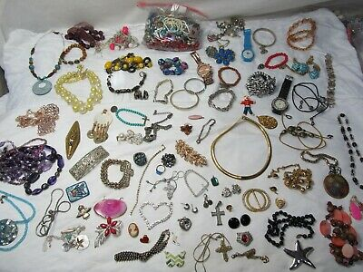 105+ PC Junk Drawer Jewelry Lot  FREE SHIPPING