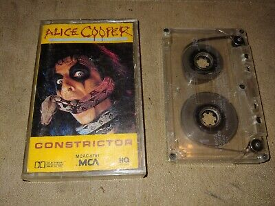 Vintage Alice Cooper Constrictor Cassette Good Condition