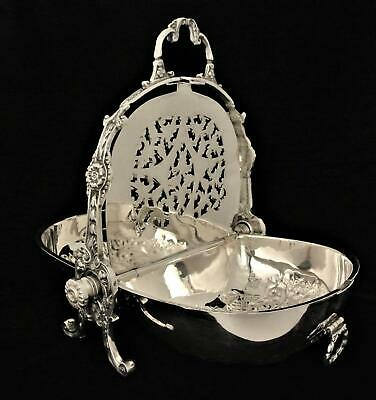 Victorian Silver Over Copper Sheffield England Bun Warmer Repousse Biscuit Box