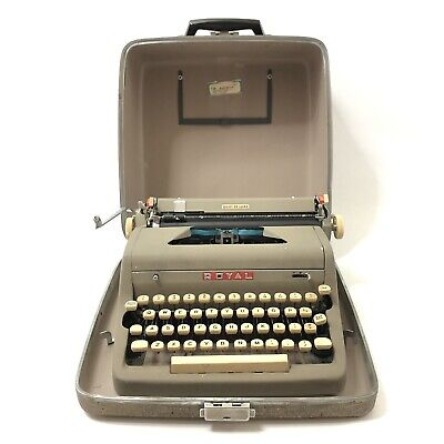 Royal Quiet Deluxe Portable Manual Typewriter Circa 1950's