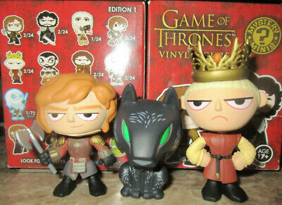 Funko Game Of Thrones Mystery Minis Lot Direwolf Shaggy Dog Joffrey Tyrion Oop