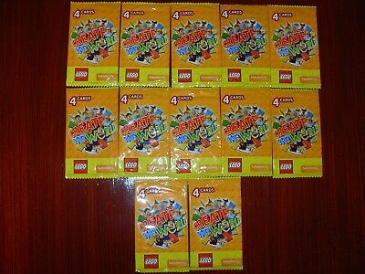 Unopened Sainsbury's Create The World Lego Cards–12 x packs of 4