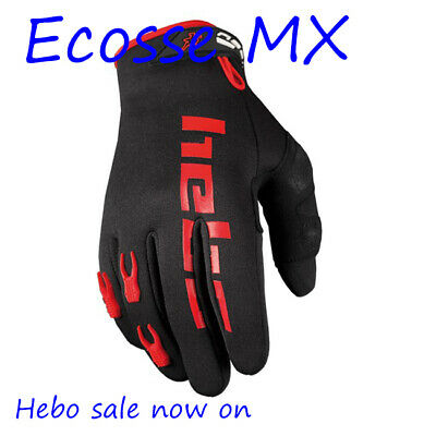 Hebo Neoprene Trials Enduro Cycling Gloves BLACK/RED LARGE SALE NOW ON