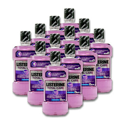 12x500ml Listerine Mundspülung Total Care 6 in1 Clean Mint 6-fach Wirkung