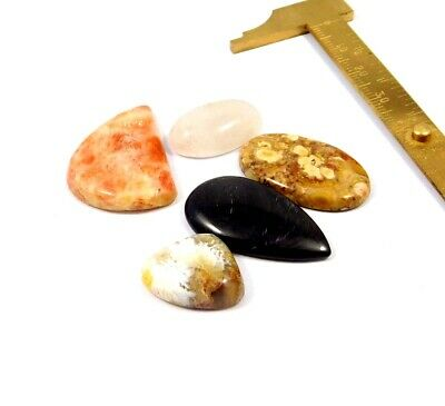 108 Cts. 100% Natural Lot Of Mix Stone Loose Cabochon Gemstone NG21967