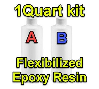 1 Quart KIT 1:1 Flex Epoxy Resin Surface Floor Clear glossy