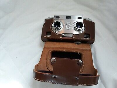 Revere Stereo Camera with leather case