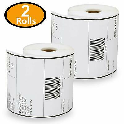 2 Rolls Dymo S0904980 Compatible 4XL Internet Postage Extra-Large 104mm x 159mm