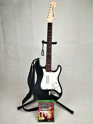 Xbox One Rock Band 4 Wireless Guitar Fender Stratocaster Inc Game