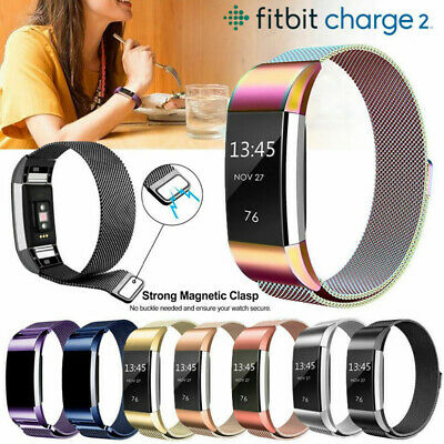 Stainless Steel Magnet Band For Fitbit Charge 2 Strap Replacement Milanese UK