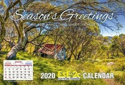 "2020 EsE-2C (Easy to See) Calendar, ""Australia's #1 Calendar"", Postage Included"