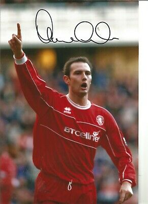 Football Autograph Noel Whelan Middlesbrough Signed 12x8 inch Photograph JM281