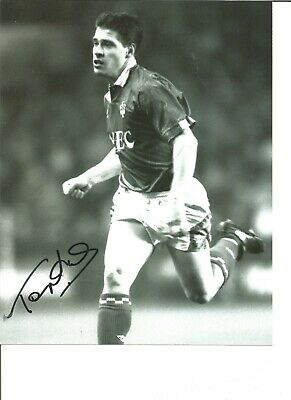 Football Autograph Tony Cottee Everton FC Signed 12x8 inch Photograph JM284