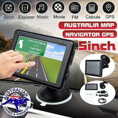 5'' Car Truck Navigation GPS Navigator System Sat Nav Lifetime Map Speedcam MP4