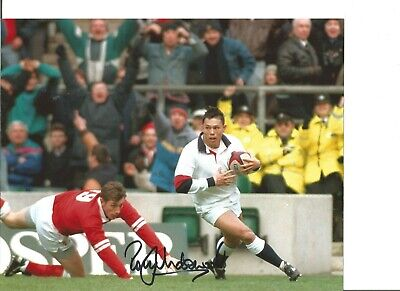 Rugby Union Autograph Rory Underwood England Signed 10x8 inch Photograph JM306