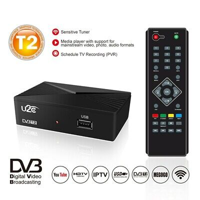 1080P DVB-T2 TV Receiver Box DVB-C Digital USB HDTV Network Player Ground Signal