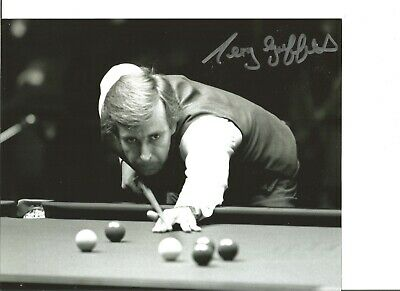 Snooker Autograph Terry Griffiths Signed 10x8 inch B&W Photograph JM319