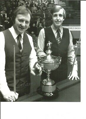 Snooker Autograph Terry Griffiths Signed 10x8 in Photograph Dennis Taylor JM320