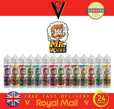 Mr Wicks 17 Premium Eliquid Flavours Vape Juice Short Fill 50Ml 0Mg *Uk*