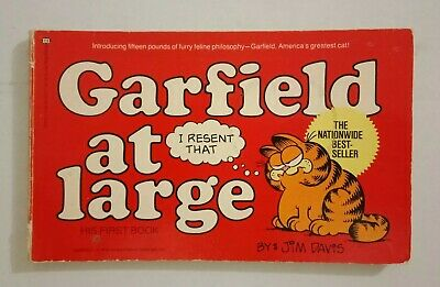 Garfield 1st ed Book - Garfield At Large by Jim Davis - # 1 His First Book  1980