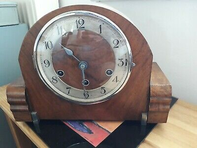 A Working Vintage Haller A.G Art Deco 8Day Westminster Chime Mantle Clock