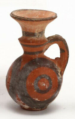 Authentic Antiquity Cypro-Geometric Red Ware Juglet circa 1300-1200 B.C.