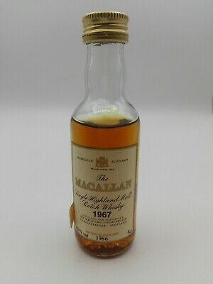 Miniature mignon minibottle 1967 MACALLAN 18 YEAR OLD 5CL 43 vol
